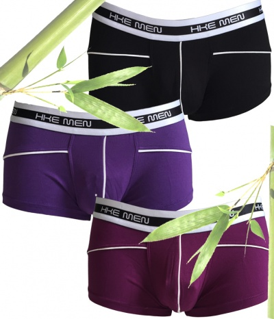 3 Boxers Homme Bambou