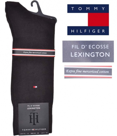 chaussettes homme en fil d 39 cosse de la marque tommy hilfiger. Black Bedroom Furniture Sets. Home Design Ideas