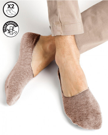 chaussettes invisible bambou beige