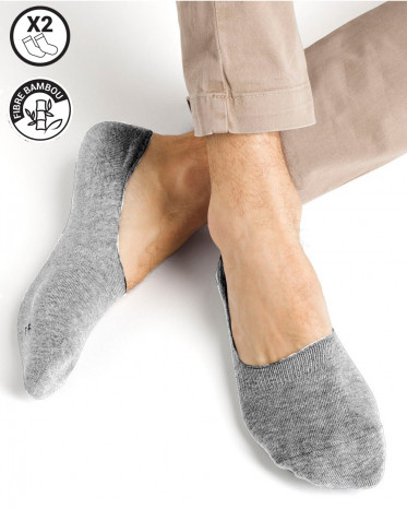chaussettes invisible bambou  gris