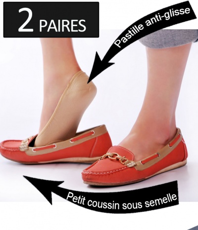 chaussettes invisible protege pied ballerine mocassin