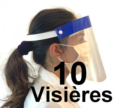 lot 10 visieres de protection epidemie covid-19