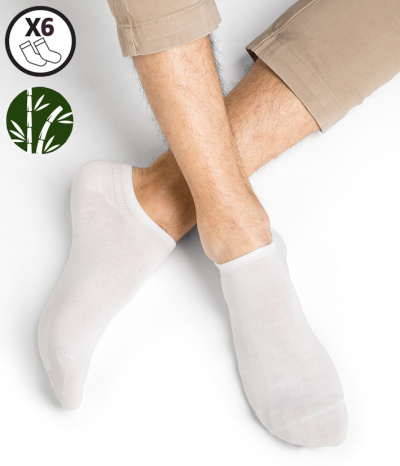 chaussette court homme bambou footi blanc