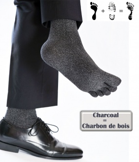 chaussette doigt feelmax charcoal