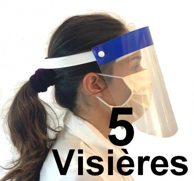 lot 5 visieres de protection epidemie covid-19